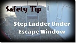 Ladder under escape window
