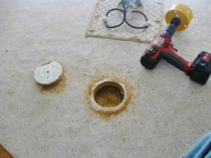 2 RV Roof Vent cutting out hole