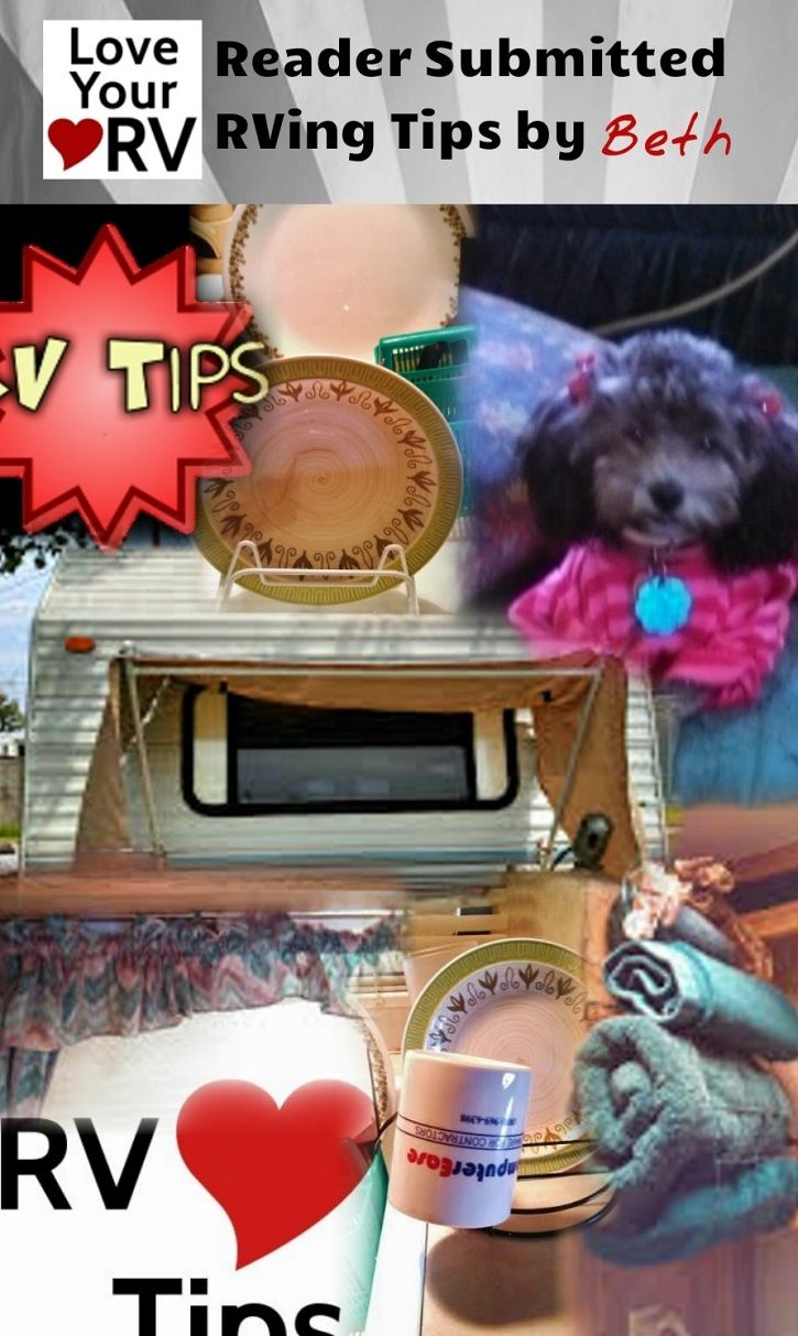 Inventive and Inexpensive RV Tips - Reader Submitted Tip - found on the Love Your RV! blog https://www.loveyourrv.com/