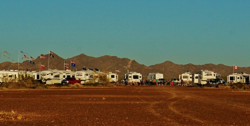 RV Rally at Quartzsite, Arizona