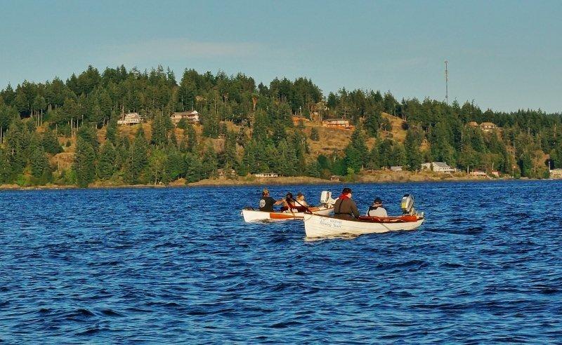 Tyee Club Row Boats fishing for salmon