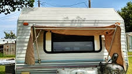 Home-made trailer awning