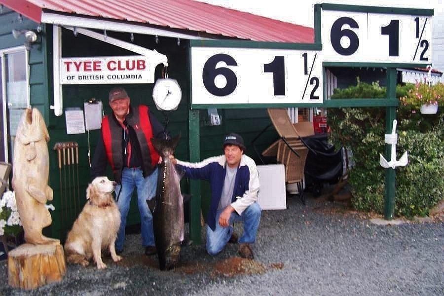 61 Pound Tyee Salmon