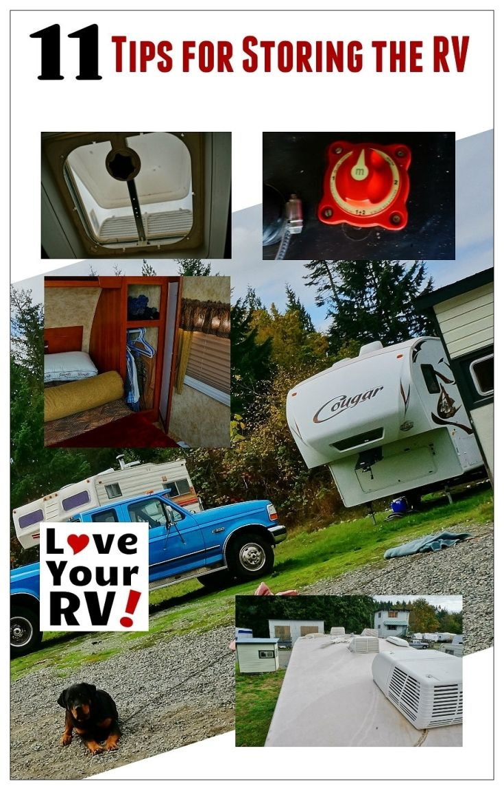 11 tips for storing the RV from the Love Your RV! blog - https://www.loveyourrv.com/ #RV #storage