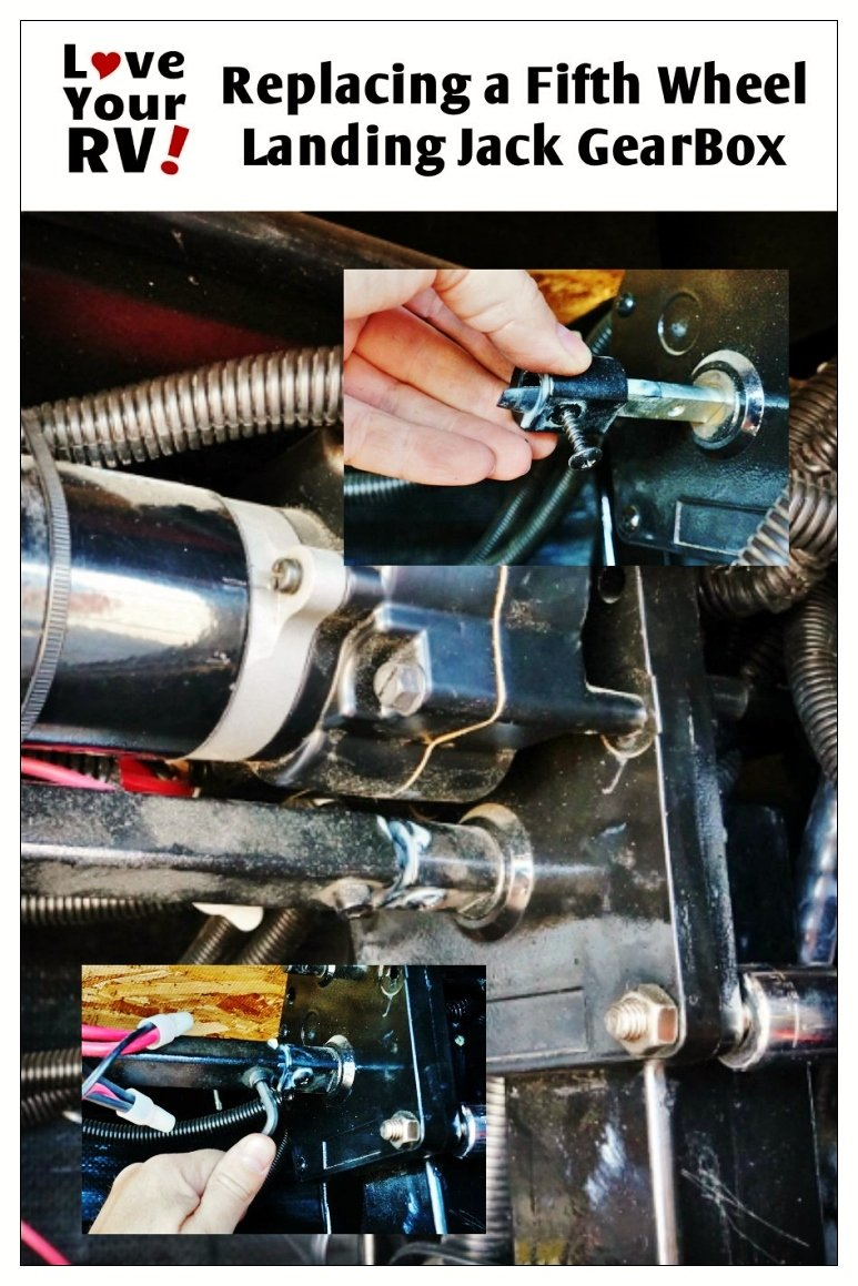 Replacing a fifth wheel landing jack gear box | Love Your RV! blog - https://www.loveyourrv.com/ #RV #Repair