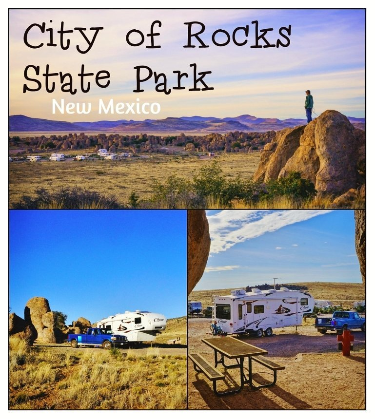 Camping at City of Rocks State Park in New Mexico | Love Your RV! blog - https://www.loveyourrv.com/ #camping #NewMexico