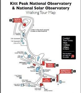 Kitt Peak Walking tour map