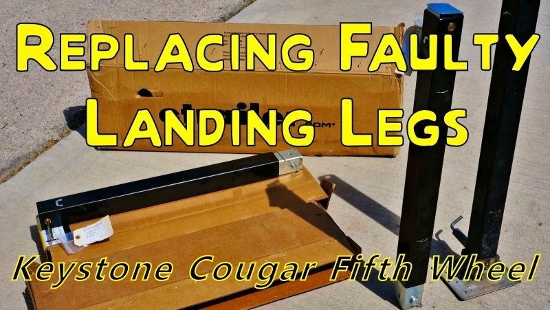 Repairing my Broken Fifth Wheel Landing Leg