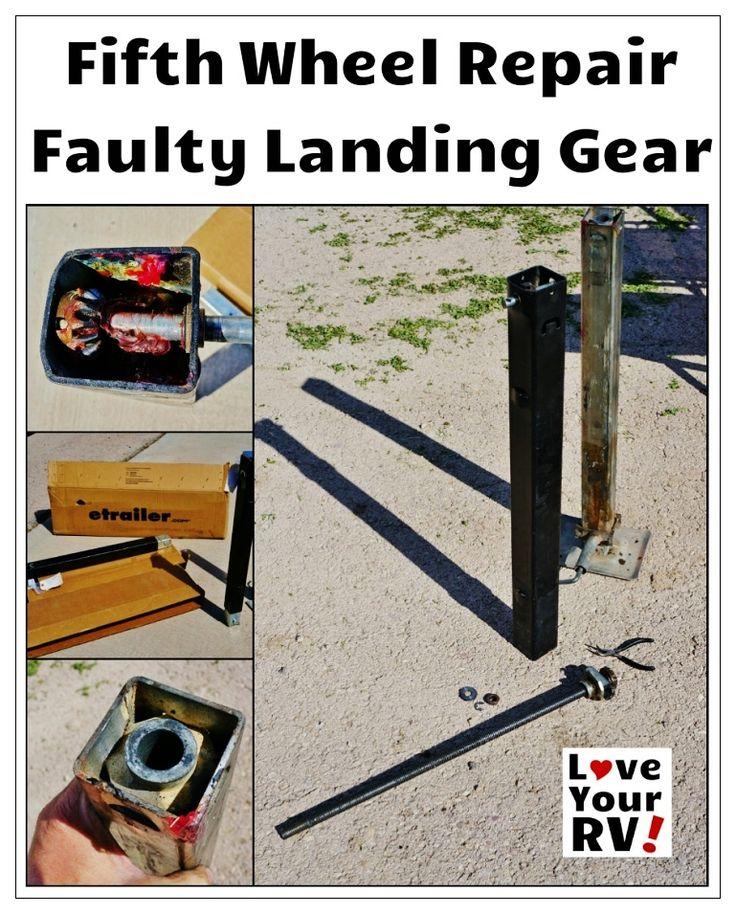 Repairing a Broken Fifth Wheel Landing Leg - Love Your RV! blog - https://www.loveyourrv.com/ #RV #Repair