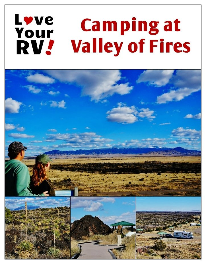 Camping at Valley of Fires in New Mexico | Love Your RV! blog - https://www.loveyourrv.com/ #camping #NewMexico