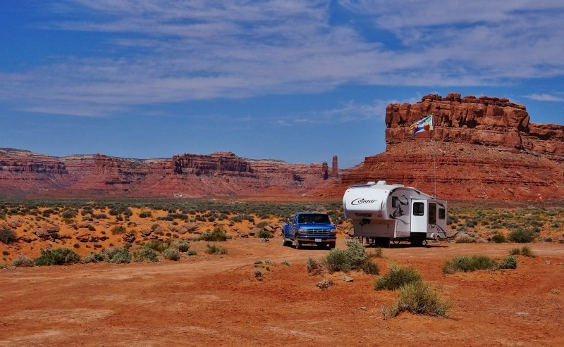 Camped in the Valley of the Gods