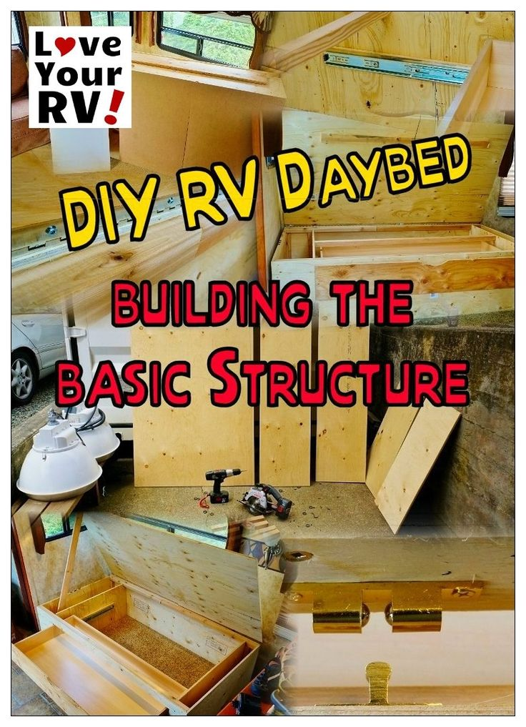 RV Interior Renovation Project Part Two – RV Daybed Build - https://www.loveyourrv.com/ #RV #Reno #Mods