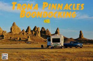 Trona Pinnacles Boondocking Feature Photo
