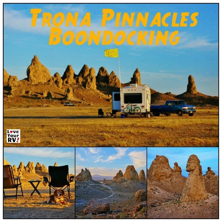 Trona Pinnacles California Desert Boondocking | Love Your RV! blog - https://www.loveyourrv.com/ #camping #california