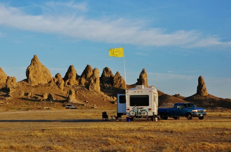 Trona Pinnacles boondocking