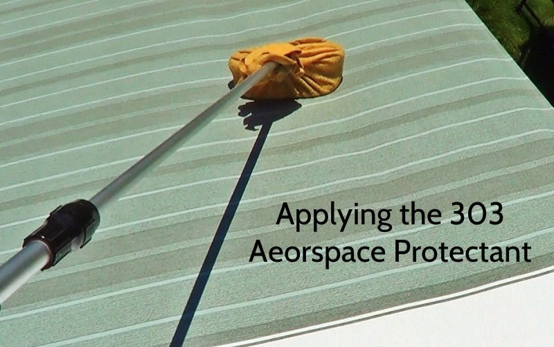 Applying 303 Aerospace protectant