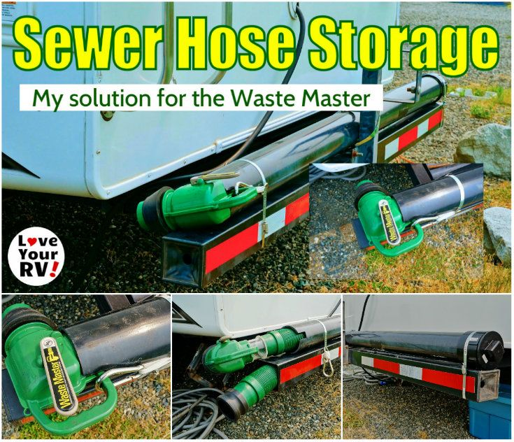 Waste Master RV Sewer Hose Storage Solution from Love Your RV! - https://www.loveyourrv.com