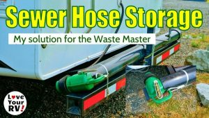 RV Sewer Hose Storage Feature Photo