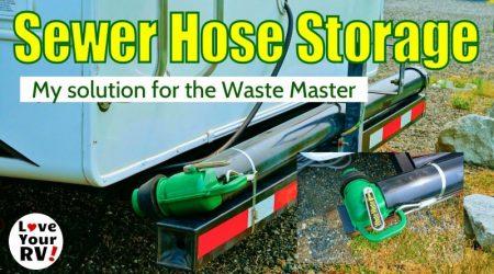 Waste Master RV Sewer Hose Storage Solution