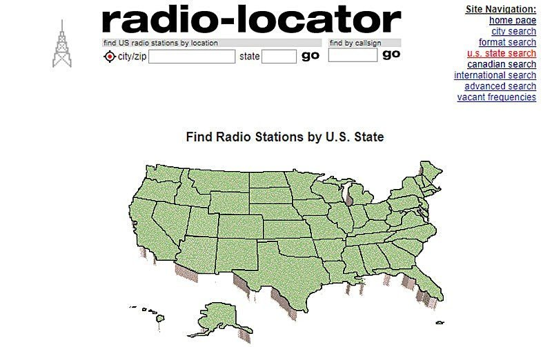 Radio Locator Website