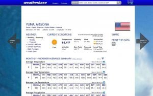 Weatherbase.com screenshot