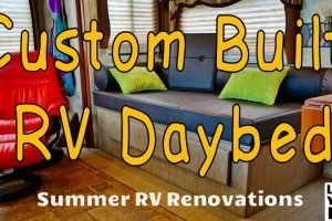Custom Built RV Daybed Feature Photo