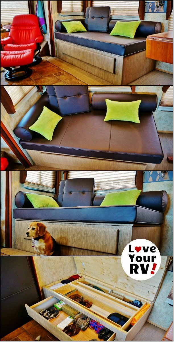 Custom Built RV Daybed Howto by the Love Your RV! blog - https://www.loveyourrv.com/