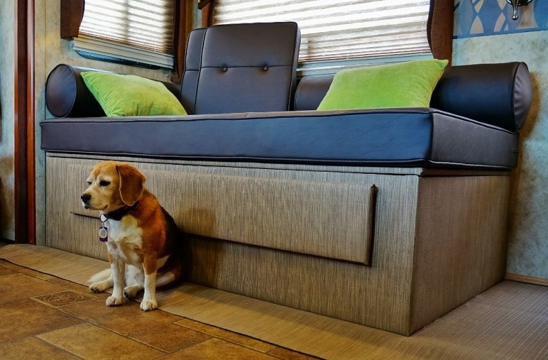 Dog hair proof daybed