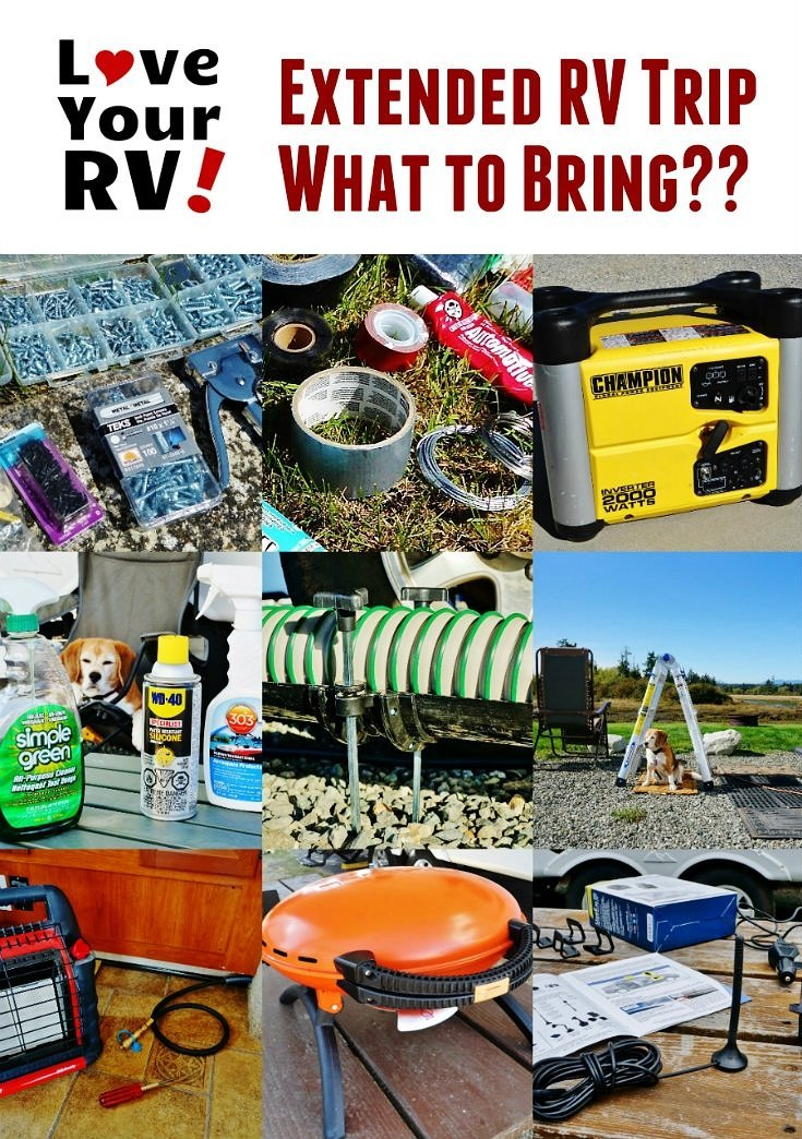 Ideas of What to Bring on an Extended RV Trip by the Love Your RV! Blog - https://www.loveyourrv.com/ #RVing #RVTips