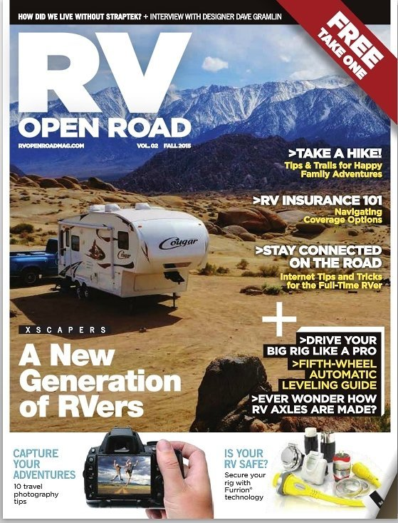 RV Open Road Magazine Cover