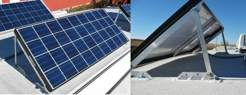 Solar panels and tilt mounts