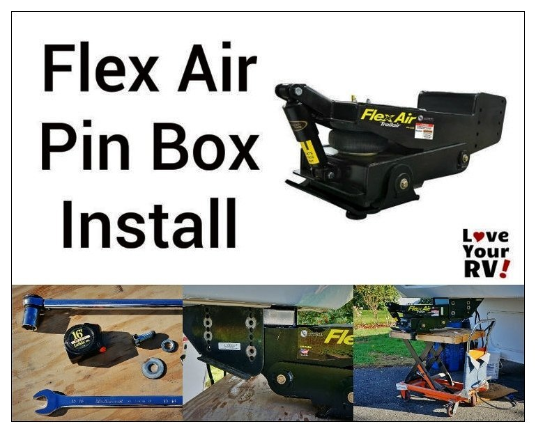 Flex Air Pin Box Installation by Love Your RV! blog - https://www.loveyourrv.com/ #fifthwheel #RVupgrades