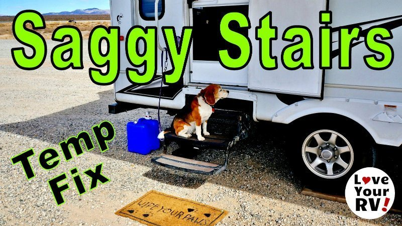 Saggy RV Stairs Temp Fix Feature Photo