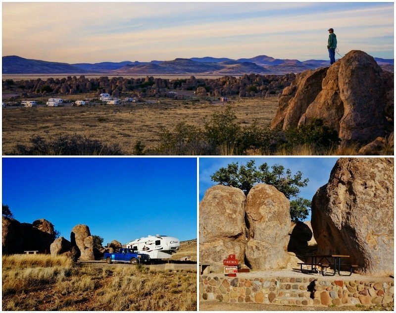City of Rocks State Park New Mexico Collage