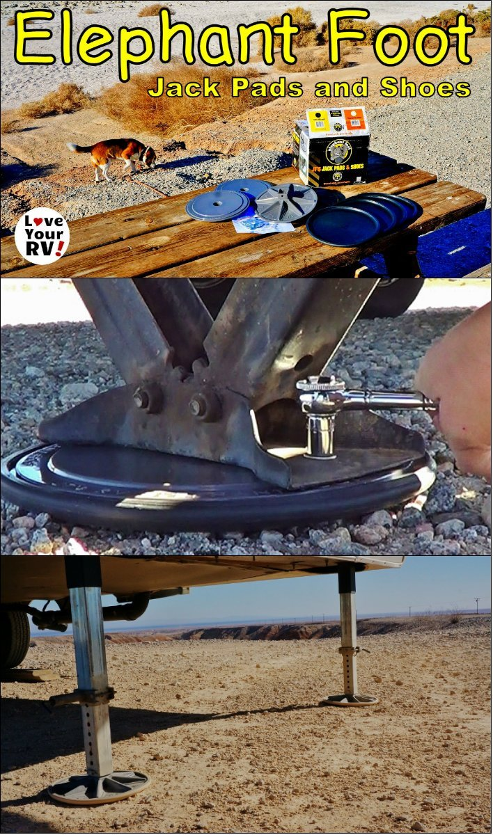 Elephant Feet Trailer Jack Pads and Shoes Review by the Love Your RV! blog - https://www.loveyourrv.com/ #RV #fifthwheel