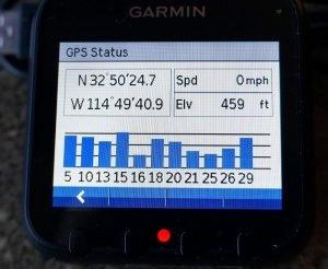 Garmin Dash Cam 20 GPS screen