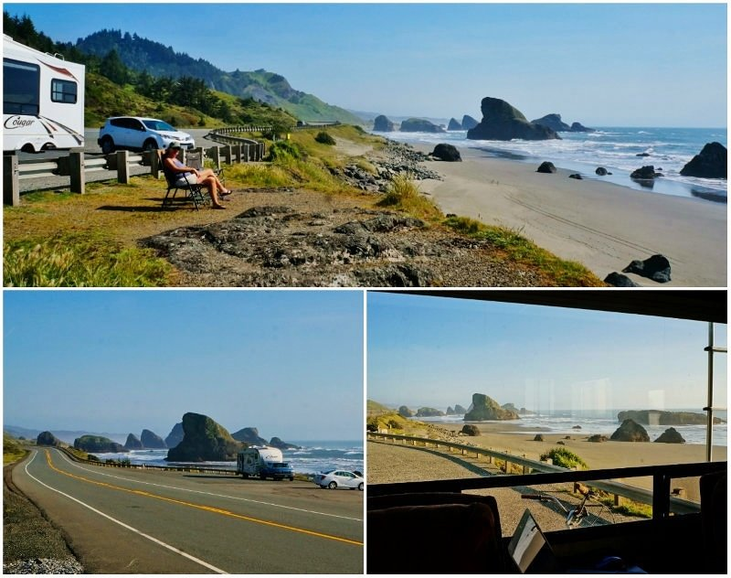 Highway 101 Pull Out Oregon
