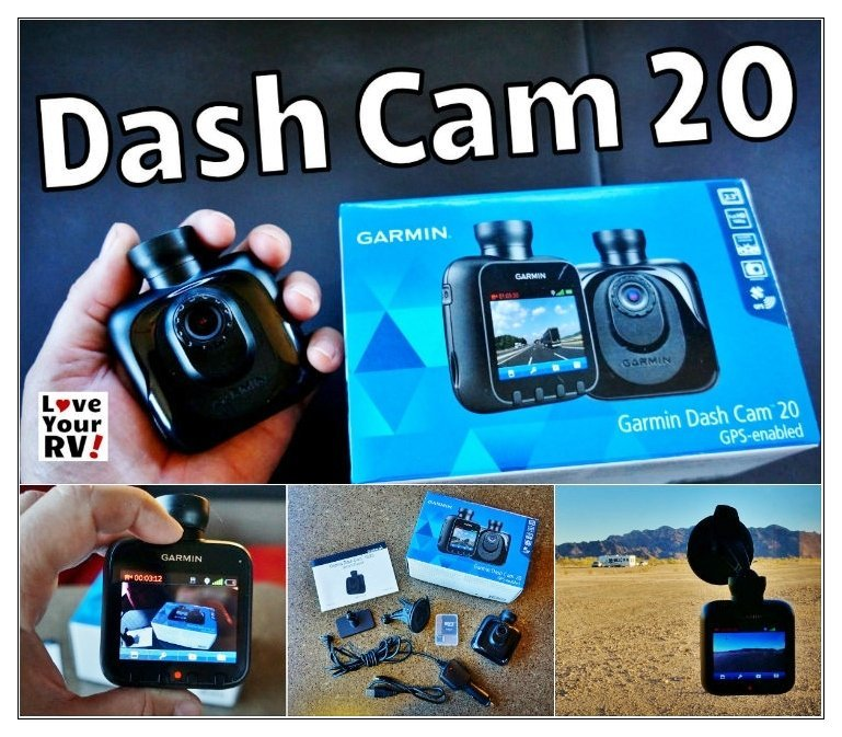Review of the Garmin Dash Cam 20 by the Love Your RV! blog - https://www.loveyourrv.com/ #RVGadget #dashcam