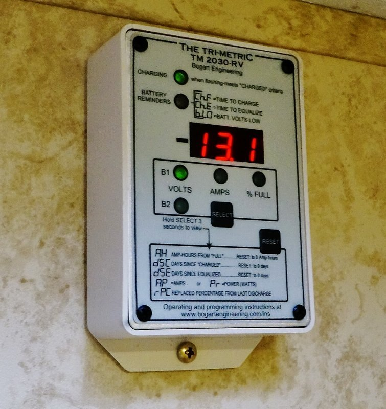 Trimetric TM2030-RV meter installed