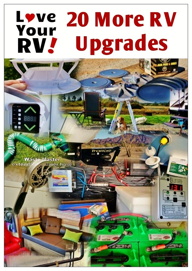 20 more RV upgrades I've made to our fifth wheel trailer by the Love Your RV! blog - https://www.loveyourrv.com/ #RV #RVing