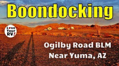 Boondocking at the Ogilby Road BLM near Yuma AZ