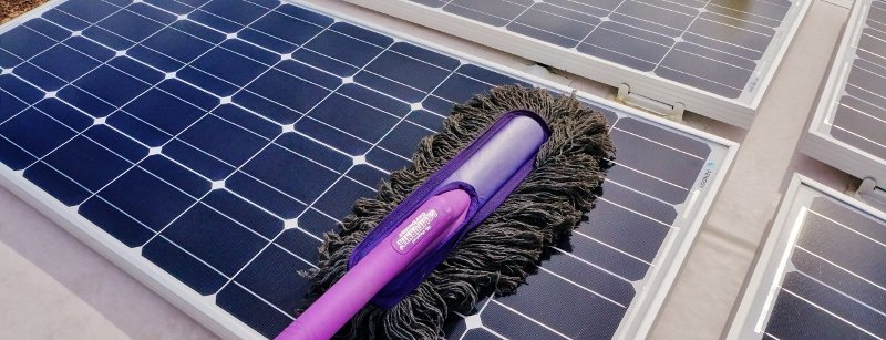 Original California CarDuster cleans solar panels