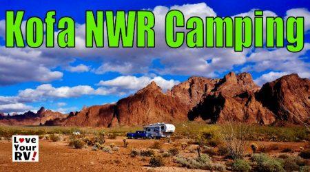 Camping in the Kofa National Wildlife Refuge Arizona
