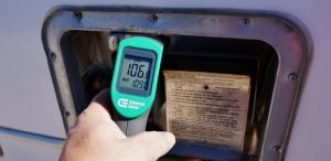 Checking Water Heater Temps