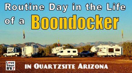 Random Day in the Life of an RV Boondocker