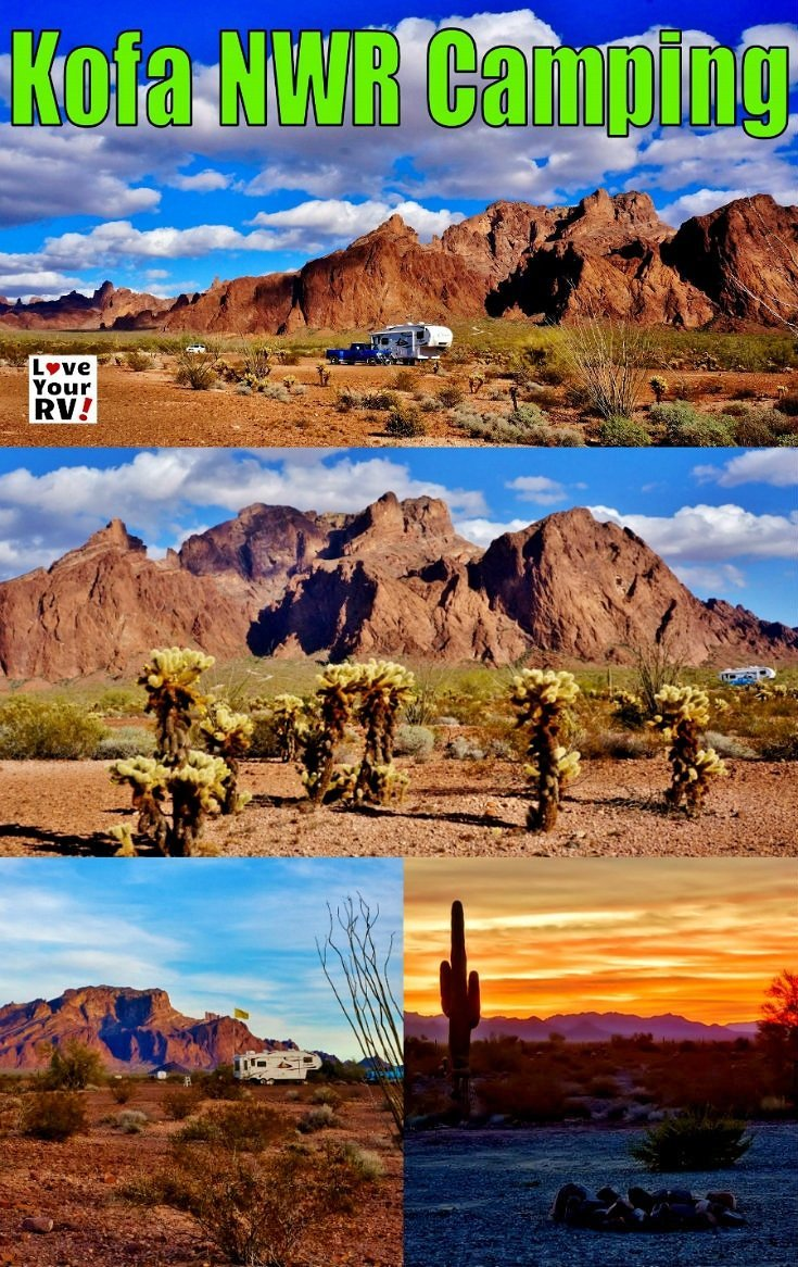 RV camping in the Kofa National Wildlife Refuge in southern Arizona - Love Your RV! blog - https://www.loveyourrv.com/ #boondocking #Arizona