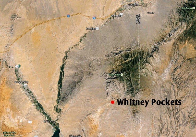 Whitney Pockets Map