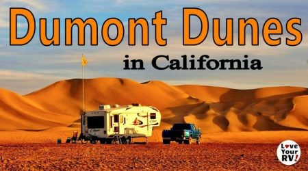 Camping at the Dumont Dunes south of Death Valley NP