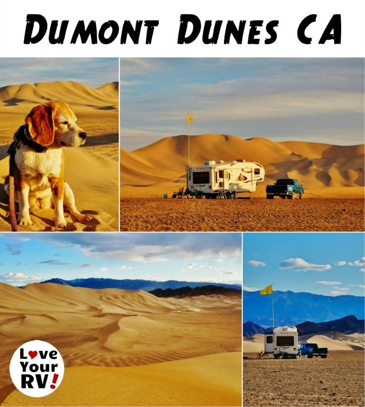 RV Camping at the Dumont Dunes in southern California - https://www.loveyourrv.com/ #RVing #duners