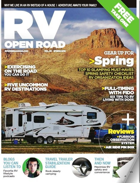 RV Open Road Magazine Cover Spring 2016